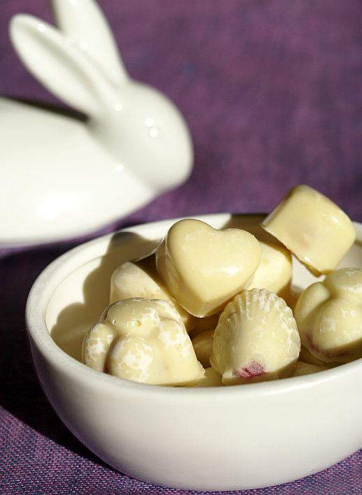 białe czekoladki