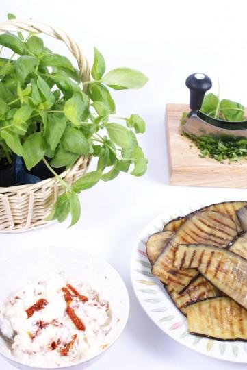 roladki z grillowanego bakłażana