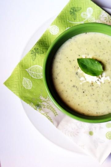 zupa krem cukiniowo-bazyliowa