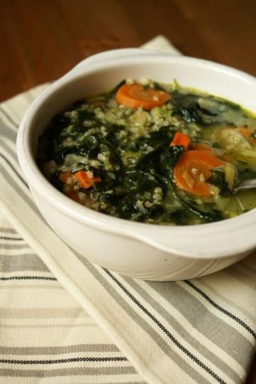 zupa ze szpinakiem po żydowsku