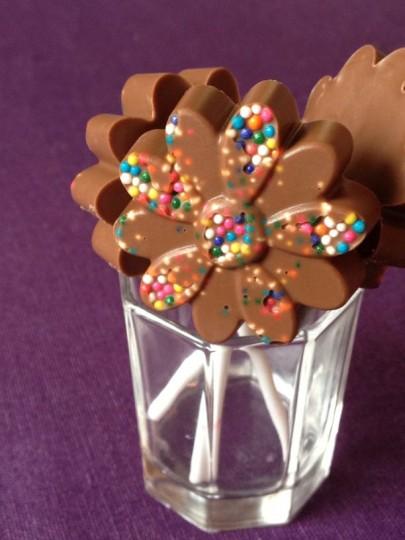 czekoladowe lizaki