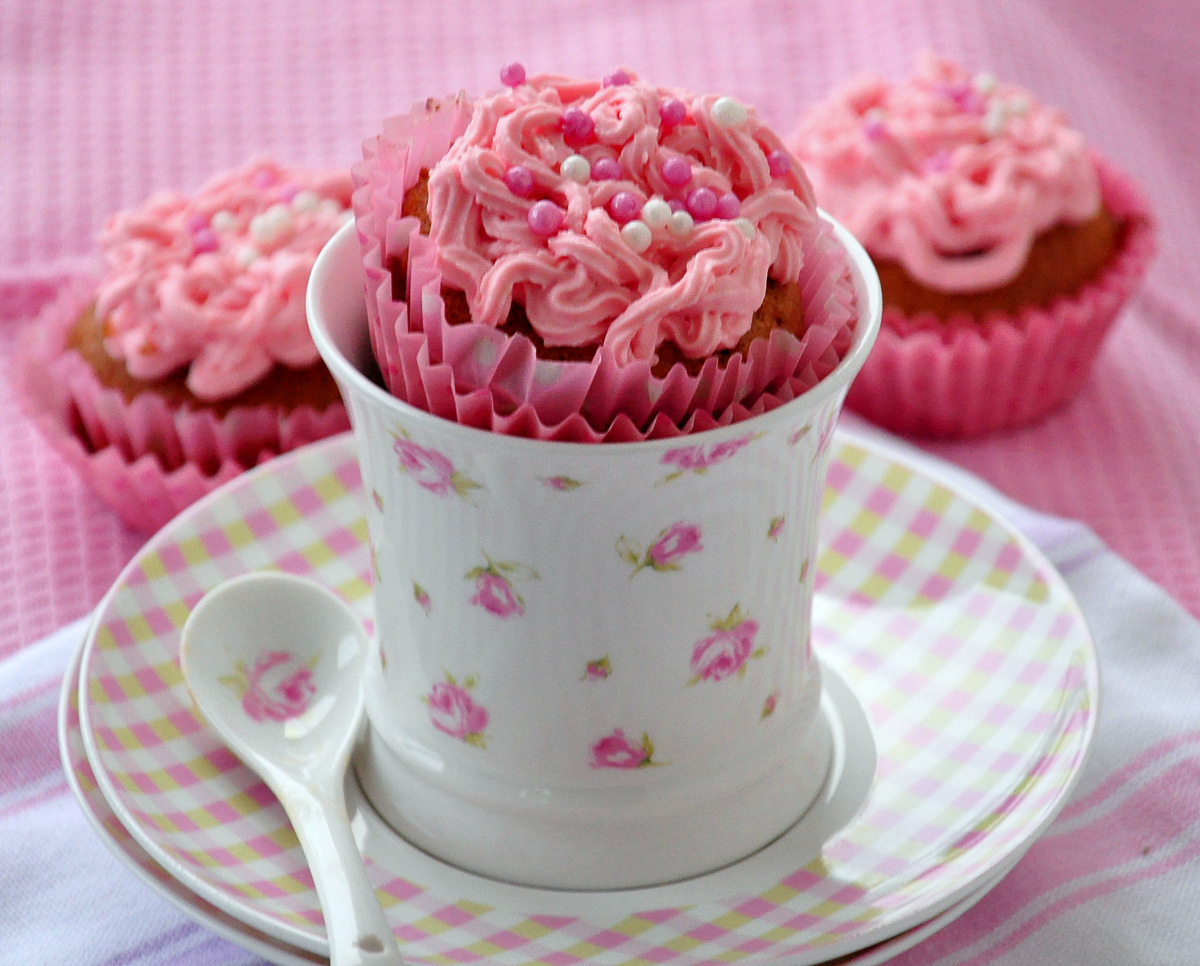 różane babeczki