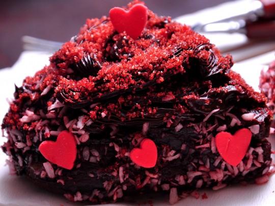 walentynkowy czekoladowy torcik