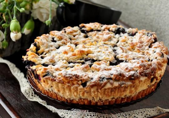 kruche ciasto z jagodami
