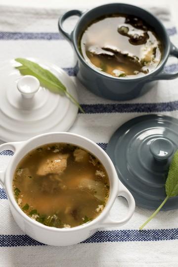Zupa rybna z grzybami