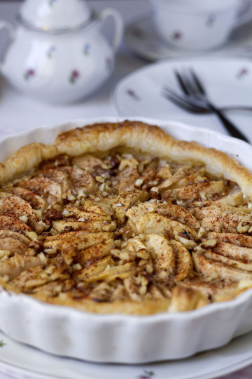 Szybkie ciasto (tarta) z jabłkami