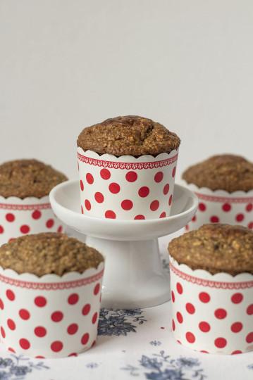 Muffinki owsiano-bananowe bez mąki i cukru