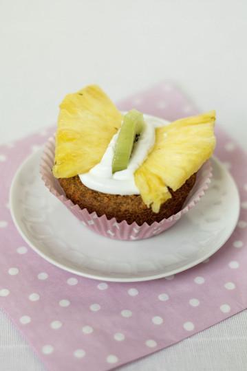 Wegańskie babeczki bananowo-kokosowe (bez jajek, bez mleka, bez mąki, bez cukru)