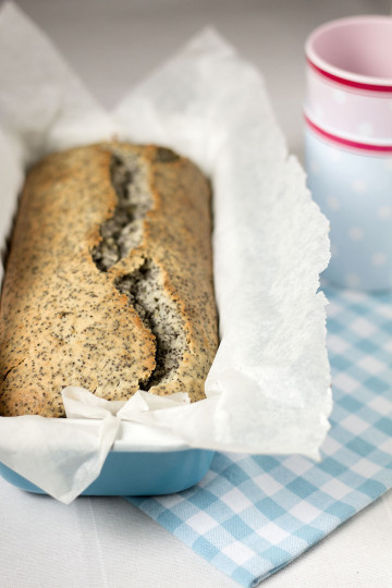 Szybkie ciasto cytrynowe z makiem (wegańskie) bez cukru
