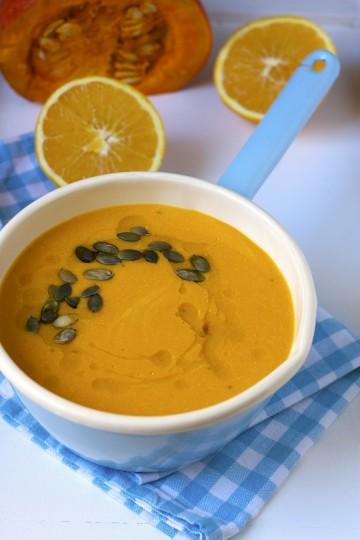 Zupa z dyni z pomarańczą