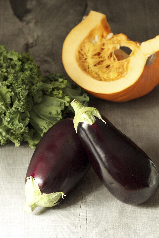 Curry z dyni i bakłażana