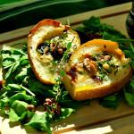 Gruszki zapiekane z gorgonzolą i tymiankiem