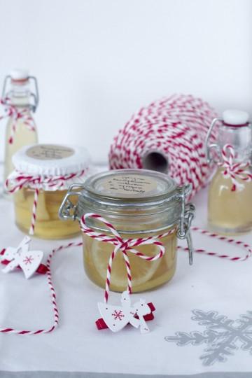 Kandyzowana cytryna z imbirem w syropie do herbaty