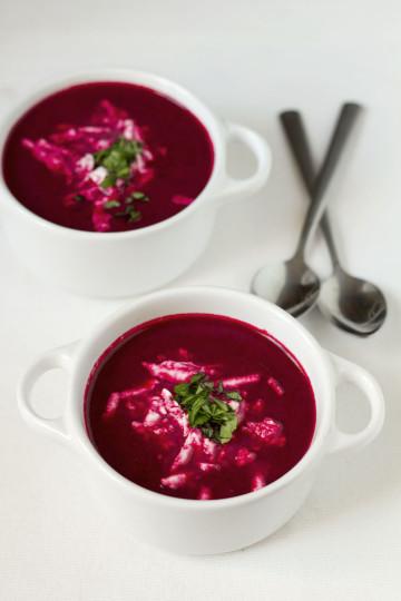 Zupa krem z pieczonych buraków