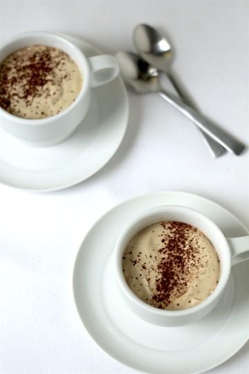 Czekoladowy mus z kawową pianką