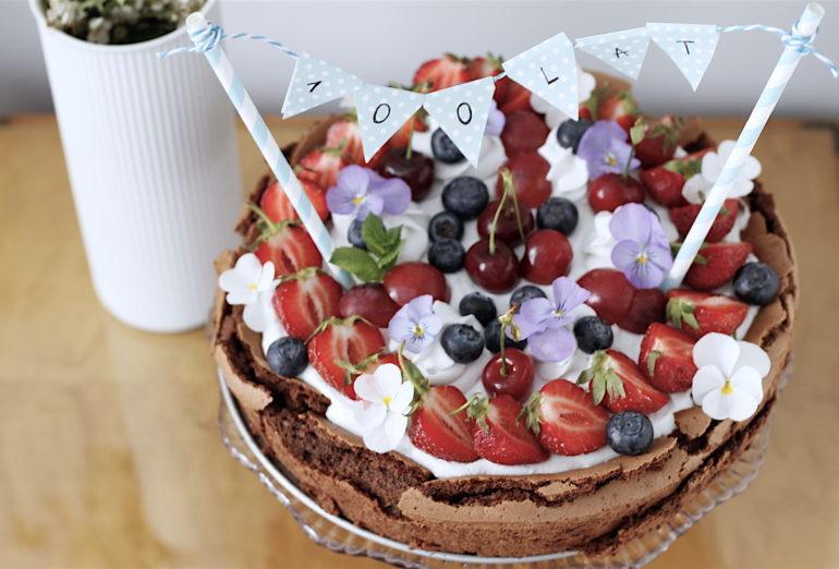 brownie kokosowe - tort czekoladowo-kokosowy bez glutenu, bezl laktozy i bez cukru
