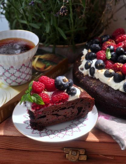 francuskie ciasto czekoladowe