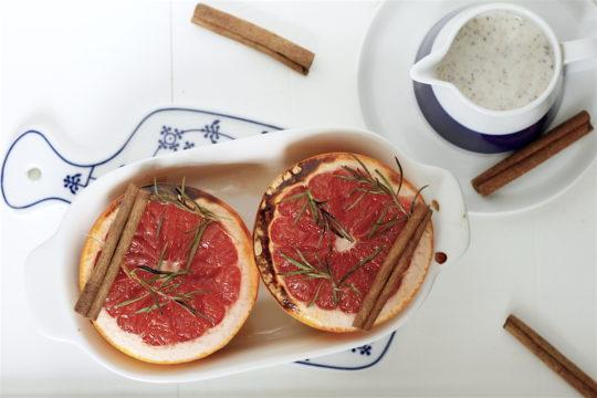 Pieczony grejpfrut z rozmarynem i imbirem