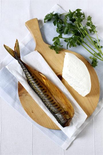 Pasta z wędzonej makreli i twarogu
