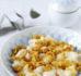 Pierogi leniwe (kluski leniwe) z okruchami w palonym maśle
